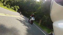 """""""So nah war ich dem Tod noch nie"""": Motorradfahrer filmt zufällig"""