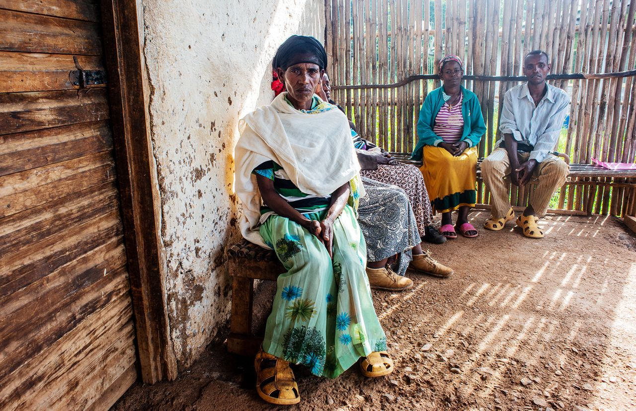 Wosani Wolanchu at a clinic in the village of Waro in southern Ethiopia. Wosani suffers from advanced stage podoconiosis.