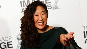 Actress Sandra Oh arrives at The 44th NAACP Image Awards at the Shrine Auditorium in Los Angeles, California, February 1, 2013. REUTERS/Patrick Fallon (UNITED STATES - Tags: ENTERTAINMENT)