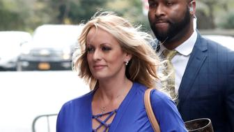 Adult-film actress Stephanie Clifford, also known as Stormy Daniels, arrives at ABC studios to appear on The View talk show in New York City, New York, U.S. April 17, 2018. REUTERS/Mike Segar