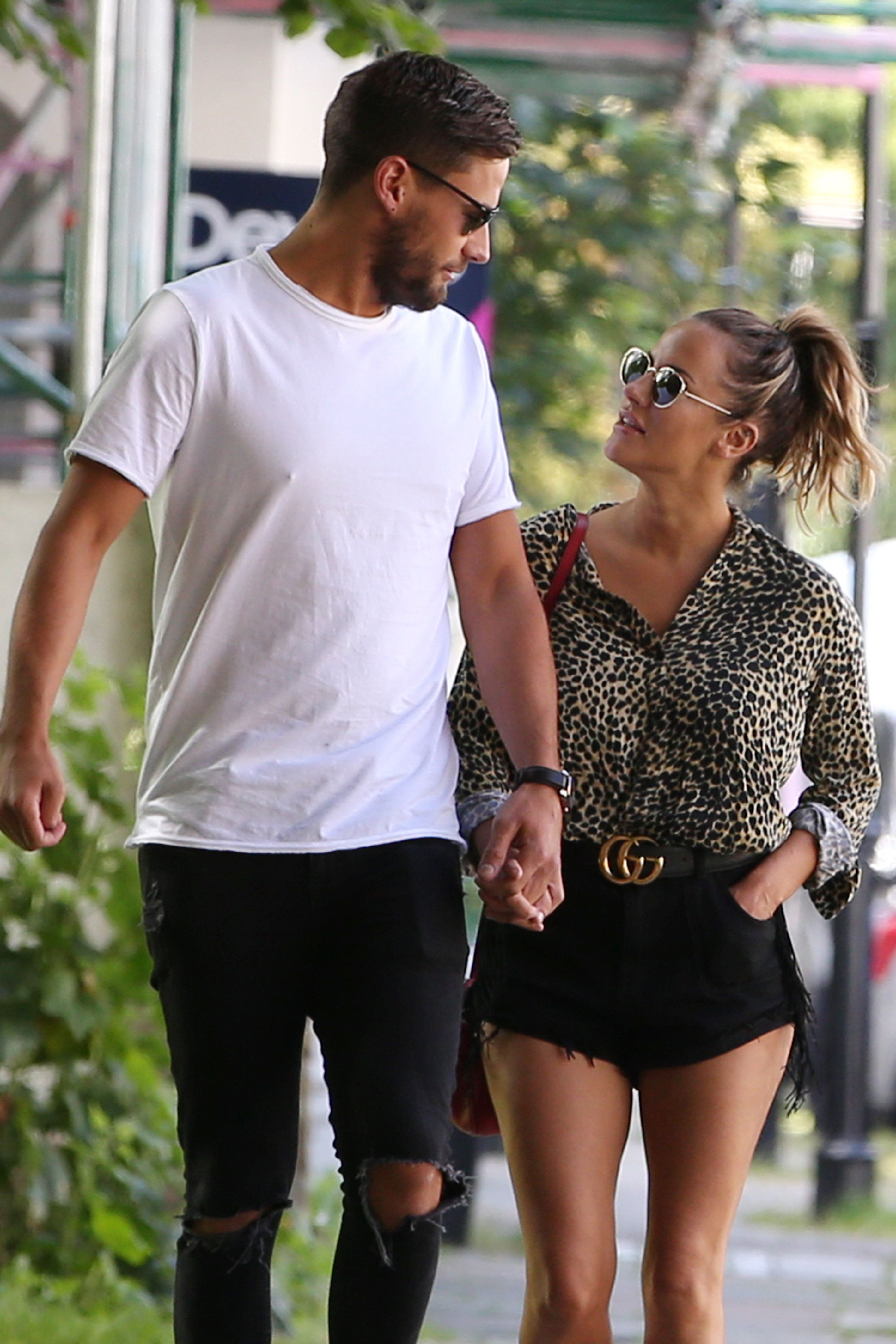 Andrew Brady and Caroline Flack,a month before their