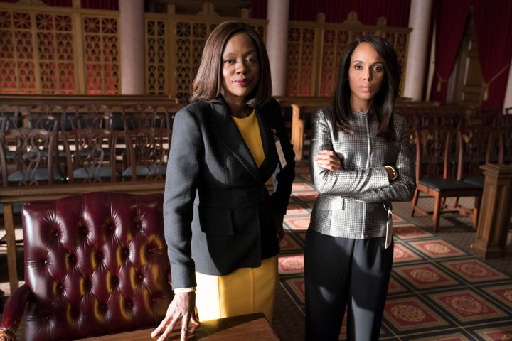 "Viola Davis and Kerry Washington in the ""Scandal"" and ""How to Get Away with Murder"" crossover episode."