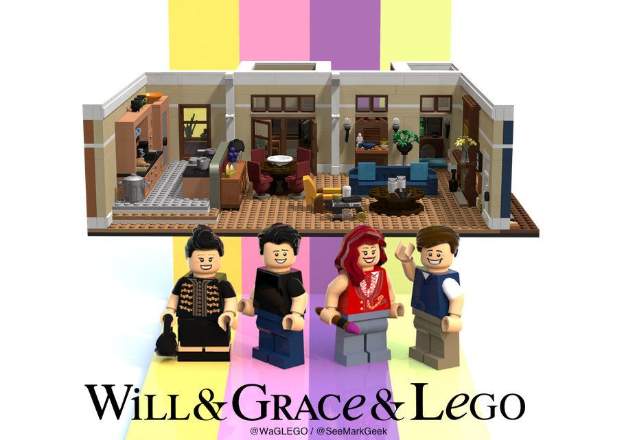 """Designer Mark Fitzpatrick has proposed a Lego set based on """"Will & Grace,"""" featuring the four principal chara"""