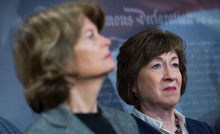 "Sens. Lisa Murkowski (R-Alaska) and Susan Collins (R-Maine) are two senators who are targeted as potential ""no"" votes against"
