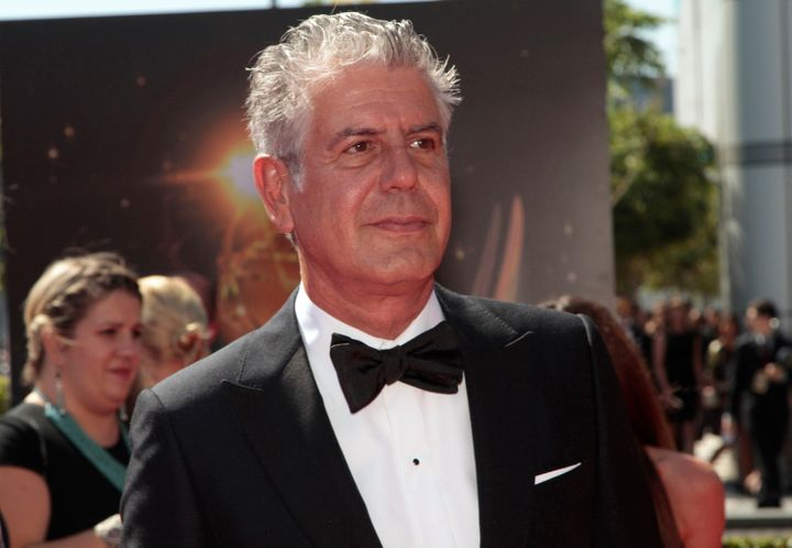 Anthony Bourdain at the 65th Primetime Creative Arts Emmy Awards in Los Angeles on Sept. 15, 2013.
