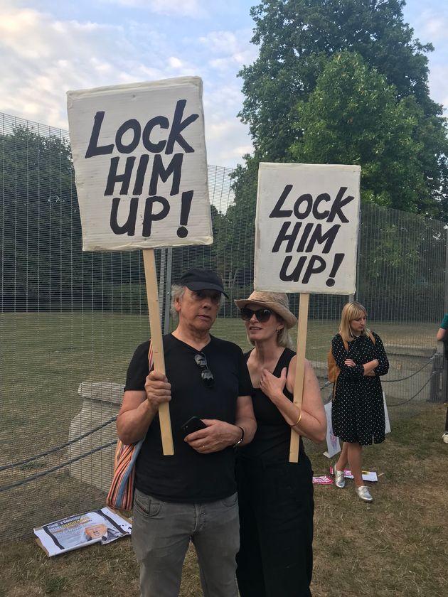 Regent's Park Protest Tried To Keep Donald Trump Awake All
