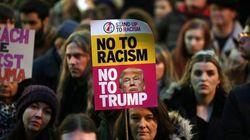 Mεγάλη διαδήλωση στο Λονδίνο κατά της επίσκεψης