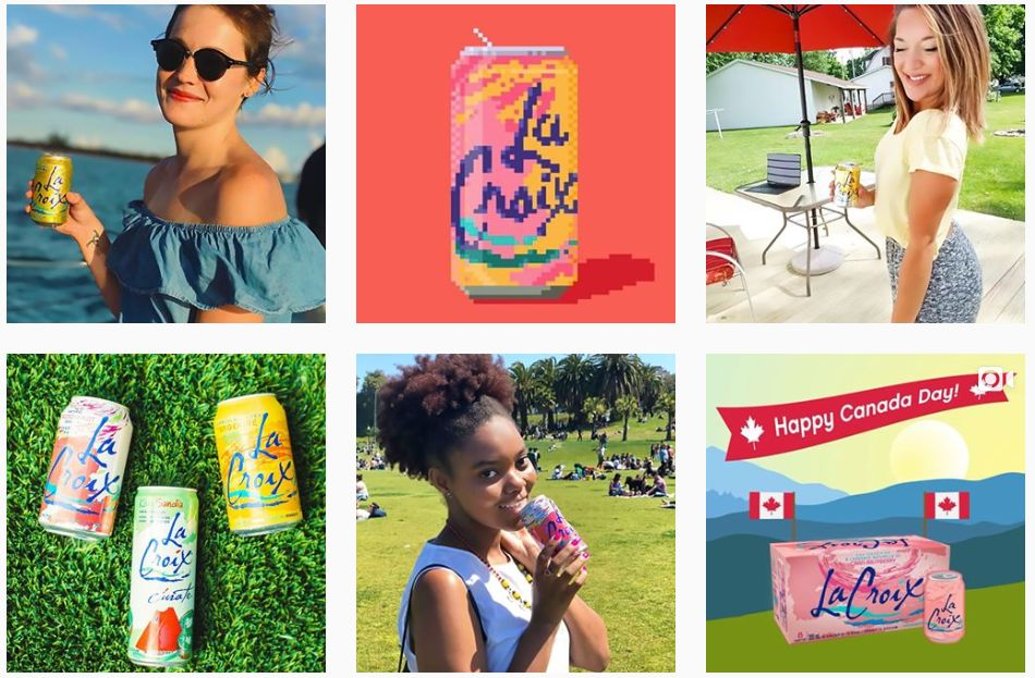 LaCroix has mastered a successful Instagram marketing strategy.