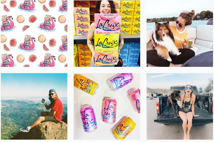 LaCroix's Instagram account shows its target audience having fun while drinking their product.