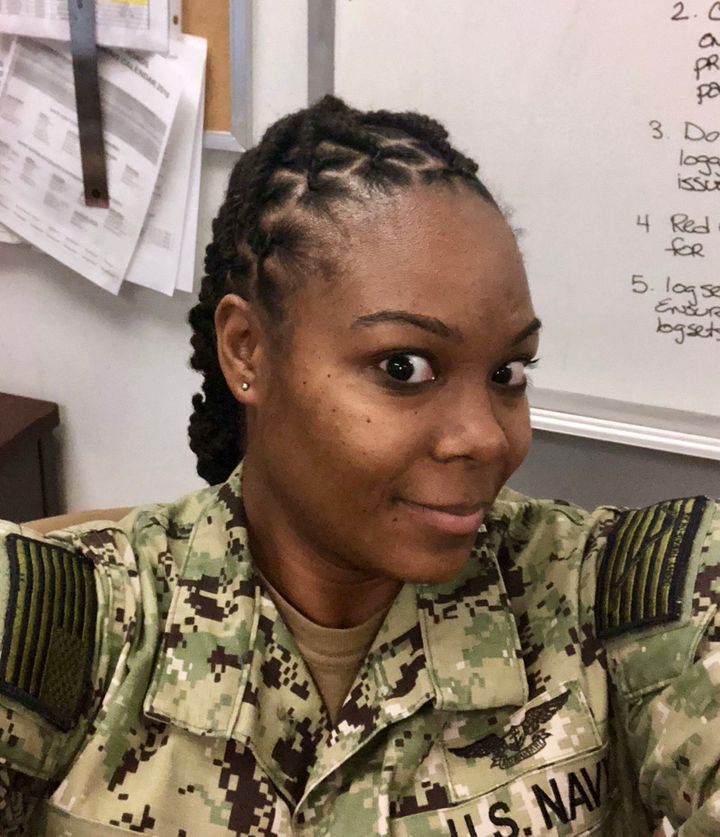 Petty Officer 1st Class Jacqualynn Leak hid her locs under a wig for years before fighting to lift the Navy's dreadlocks