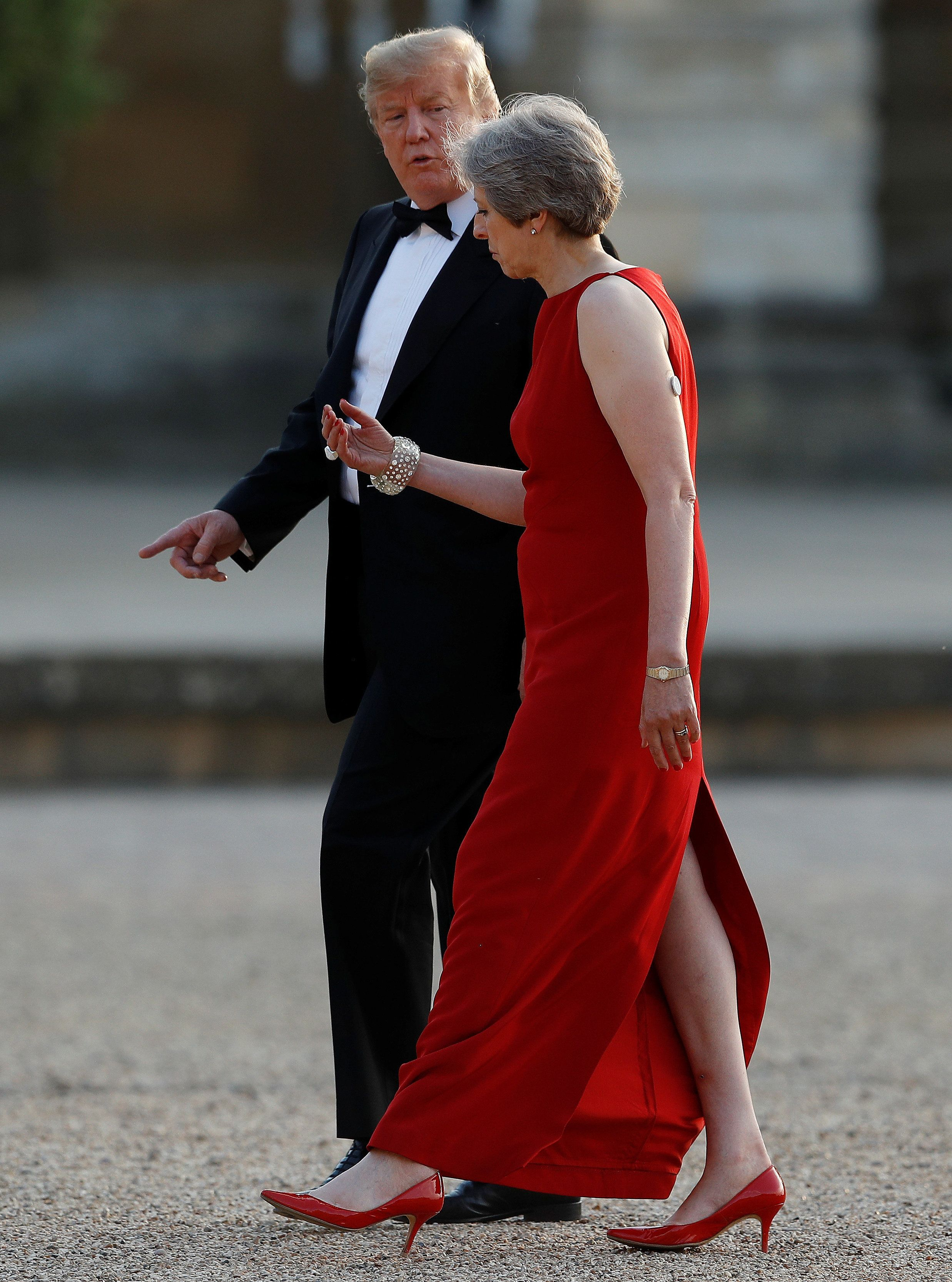 What Was On Theresa May's Arm At Blenheim