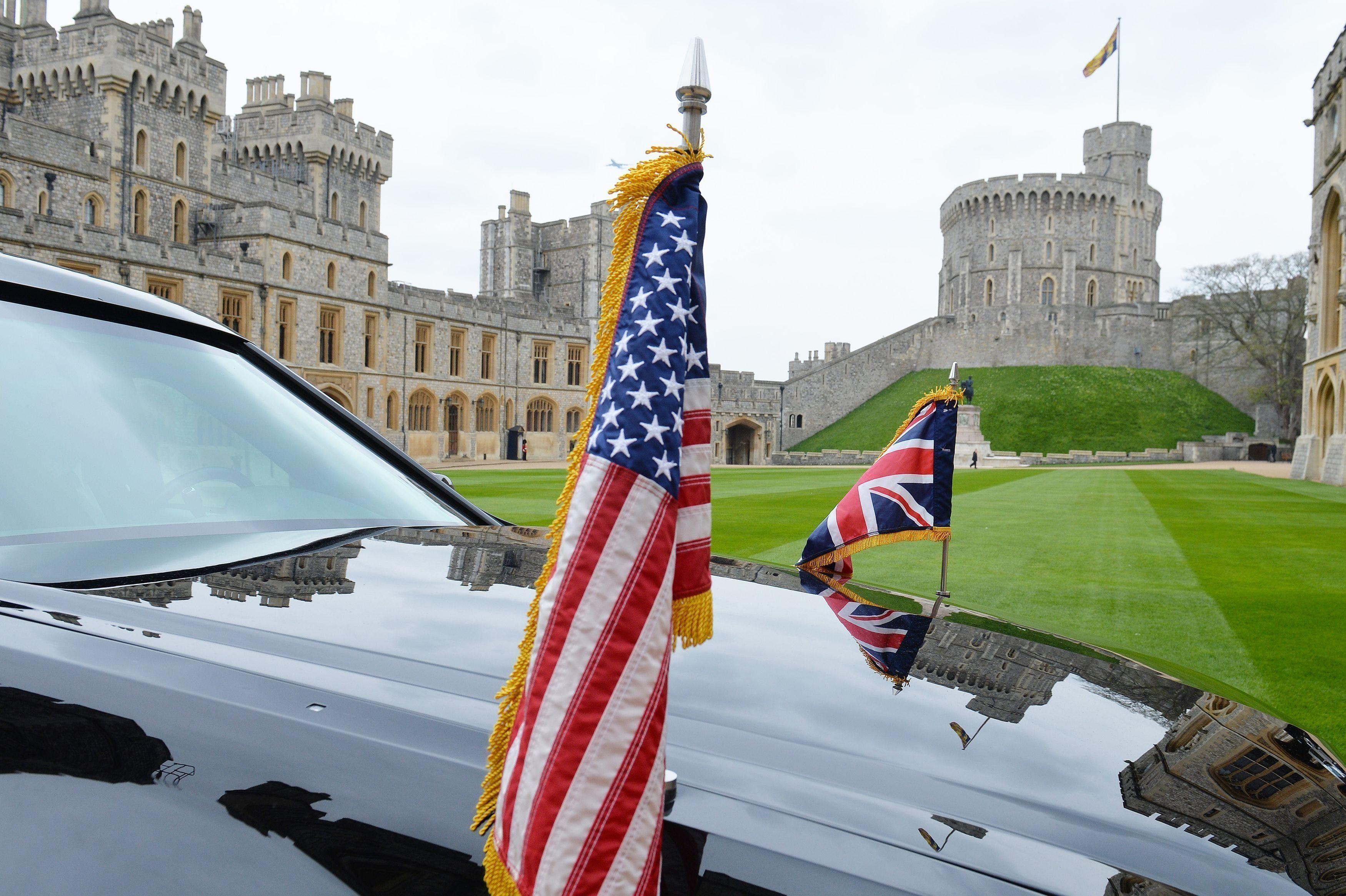 Donald and Melania trump met with Queen Elizabeth II at Windsor castle
