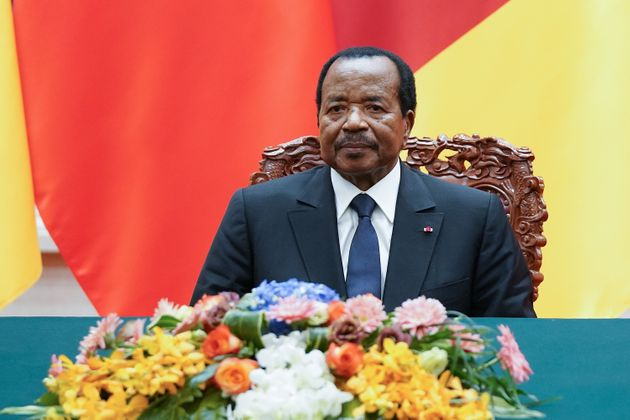 Paul Biya lors d'un cérémonie à Pékin, le 22 mars