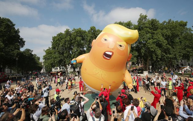 The 'Baby Trump' balloon takes off in Parliament