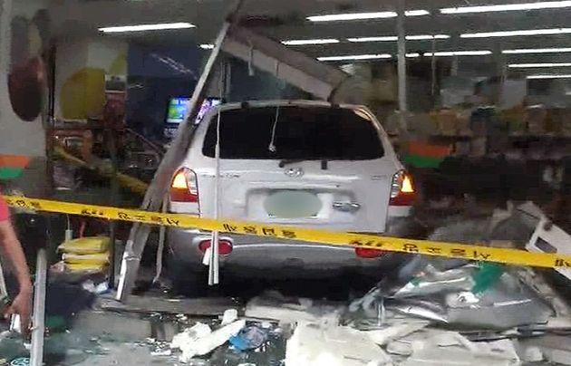 차량 돌진으로 2명 사망케 한 72세 남성의 사고 당시