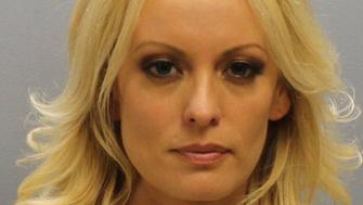 Stormy Daniels, whose real name is Stephanie Clifford, the porn film star who said she had an affair with Donald Trump before he became U.S. president, is shown in this booking photo released by Franklin County Sheriff's Office, Columbus, Ohio, U.S., July 12, 2018.  Courtesy Franklin County Sheriff's Office/Handout via REUTERS   ATTENTION EDITORS - THIS IMAGE WAS PROVIDED BY A THIRD PARTY. THIS PICTURE WAS PROCESSED BY REUTERS TO ENHANCE QUALITY. AN UNPROCESSED VERSION HAS BEEN PROVIDED SEPARATELY