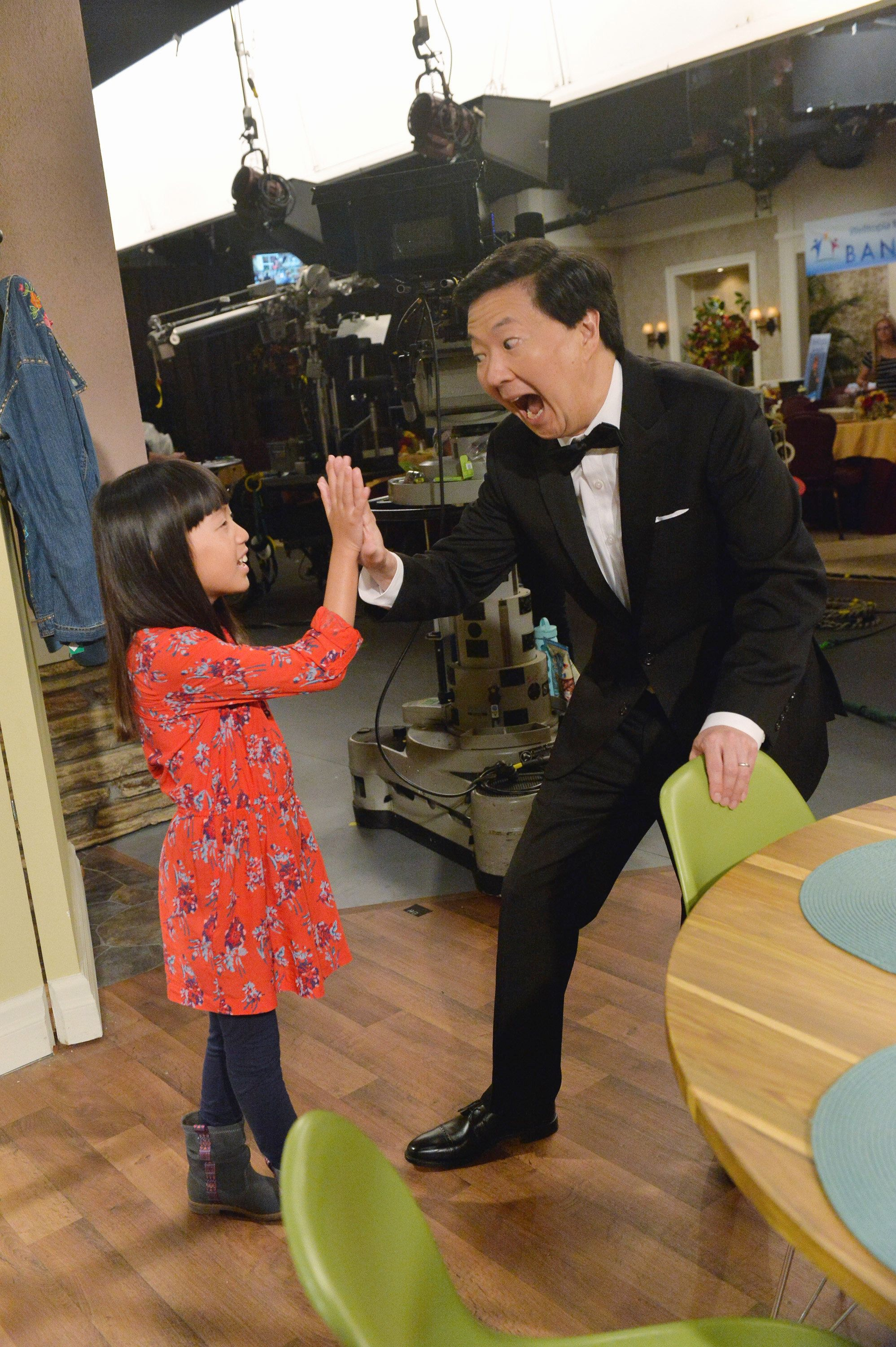 Jeong's daughter Zooey took up acting like her dad and appeared on his show