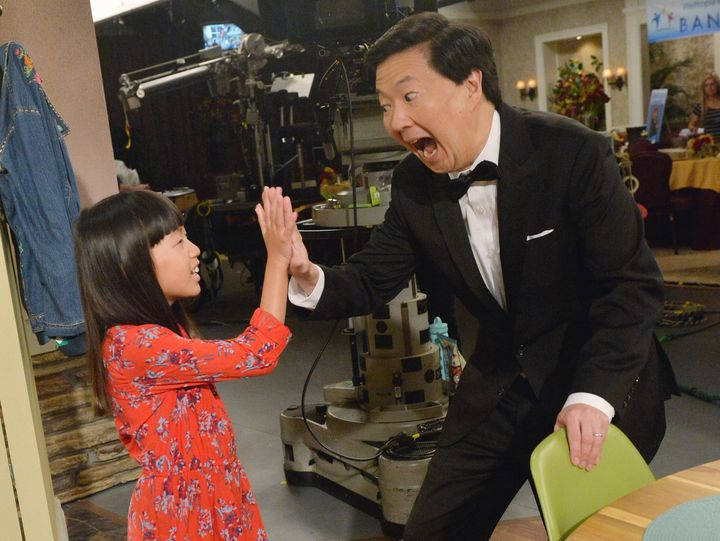 "Jeong's daughter Zooey took up acting like her dad and appeared on his show ""Dr. Ken."""
