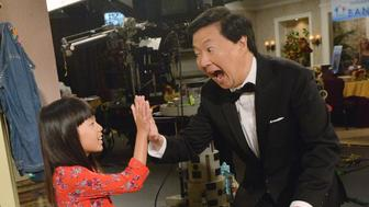 DR. KEN - 'Dr. Ken's Banquet Snub' - When a neighbor girl (guest star Zooey Jeong, Ken Jeong's real-life daughter) stands outside the kitchen window staring at Albert, Molly and D.K. try to scare her off. Meanwhile, Ken is surprised when he learns that Pat, instead of him, is asked to emcee this year's annual Welltopia banquet; and Clark and Damona debate relationship styles as it relates to their individual partners, on FRIDAY, OCTOBER 7 (8:31-9:00 p.m. EDT), on the ABC Television Network. (Lisa Rose/ABC via Getty Images) KEN JEONG, ZOOEY JEONG