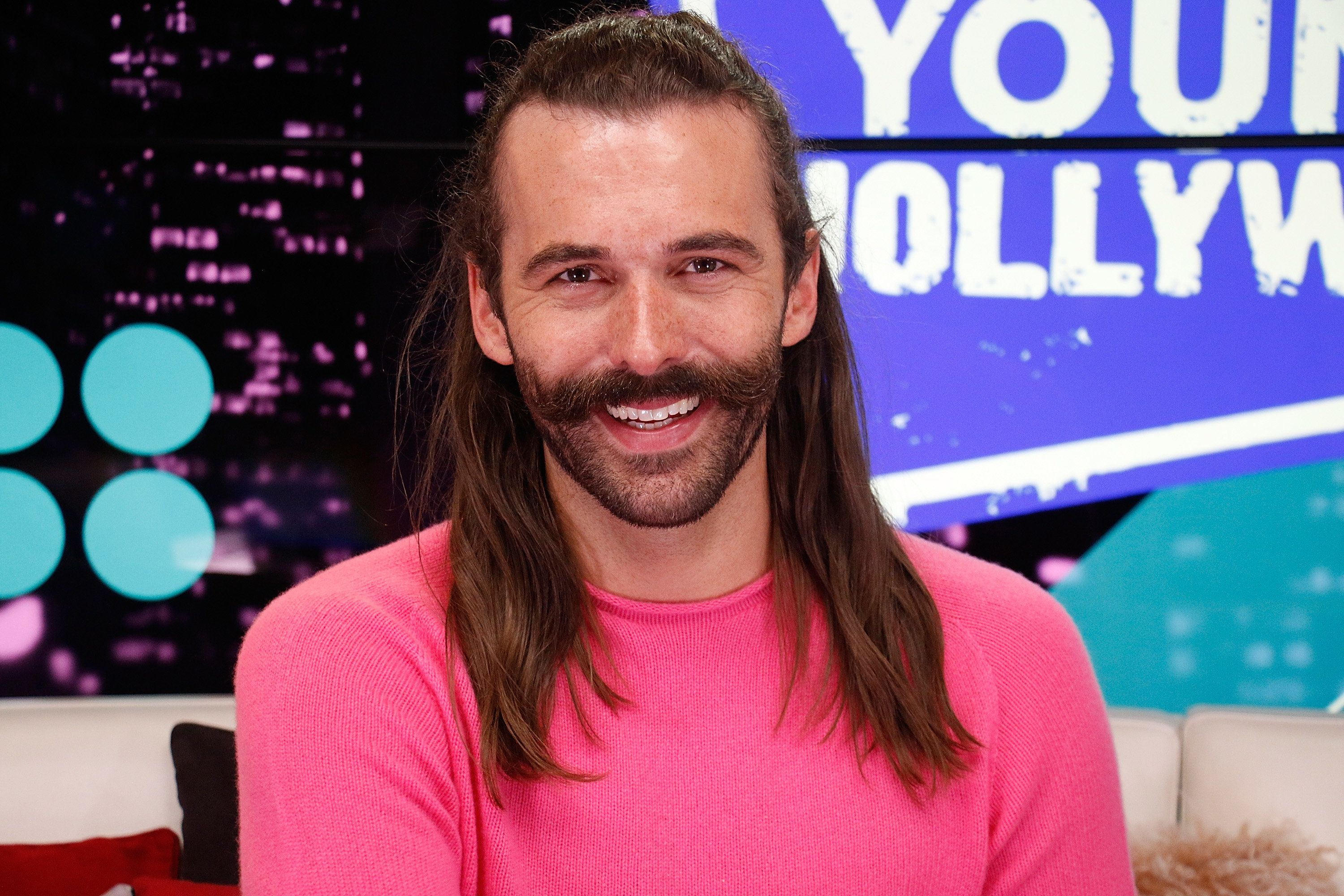 LOS ANGELES, CA - May 31: (EXCLUSIVE COVERAGE) Jonathan Van Ness from 'Queer Eye' visits the Young Hollywood Studio on May 31, 2017 in Los Angeles, California. (Photo by Mary Clavering/Young Hollywood/Getty Images)