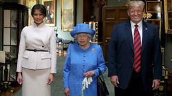 Donald Trump Arrives At Windsor Castle For Tea With The