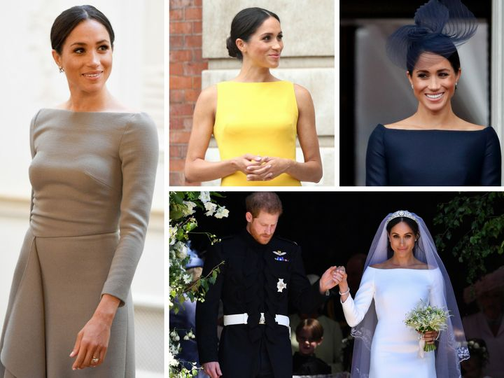 So many boatneck dresses! The Duchess has definitely found her signature style.