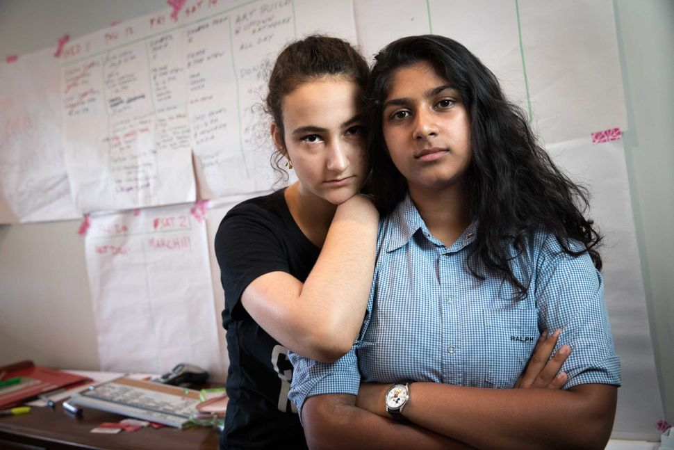 Jamie Margolin of Seattle, Washington, left, is an environmental activist who co-founded Zero Hour with Nadia Nazar of Baltim