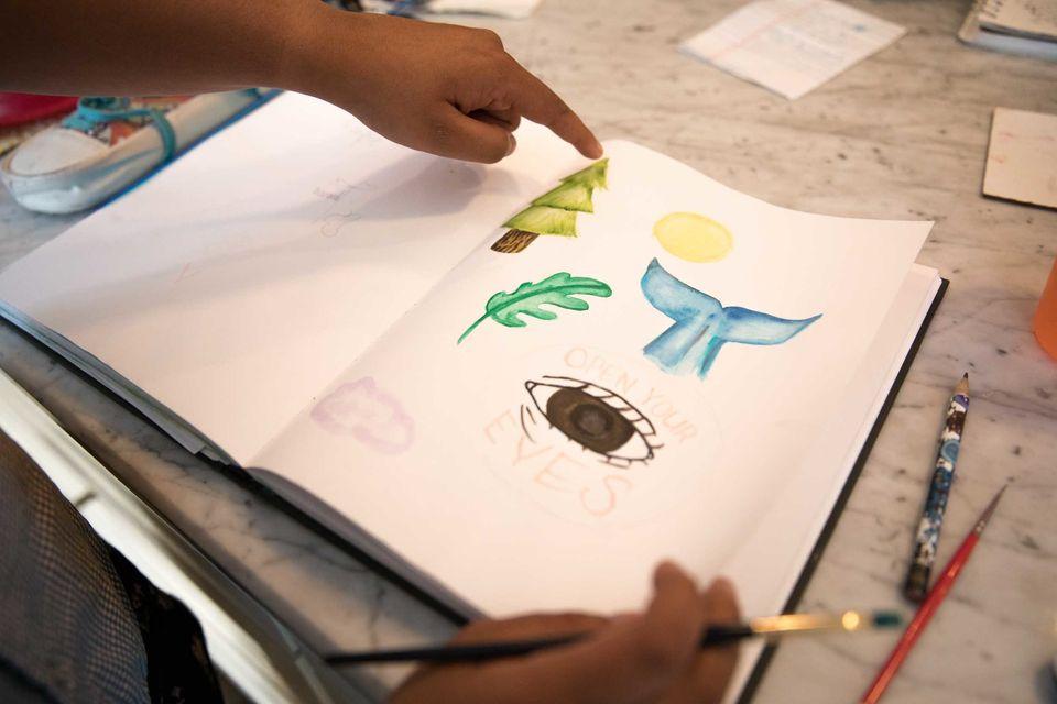 Nadia Nazar creates artwork to be used by