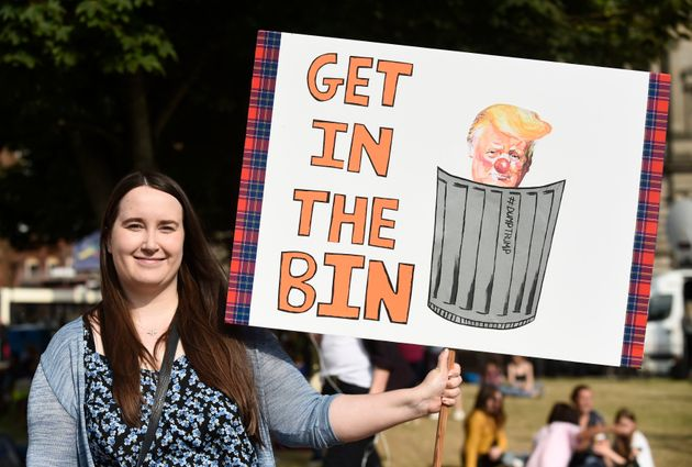 Trump UK Visit: Thousands Join 'Wall Of Resistance' Rally In Glasgow As US President Heads To