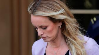 Adult-film actress Stephanie Clifford, also known as Stormy Daniels, departs federal court in the Manhattan borough of New York City, New York, U.S., April 16, 2018. REUTERS/Lucas Jackson