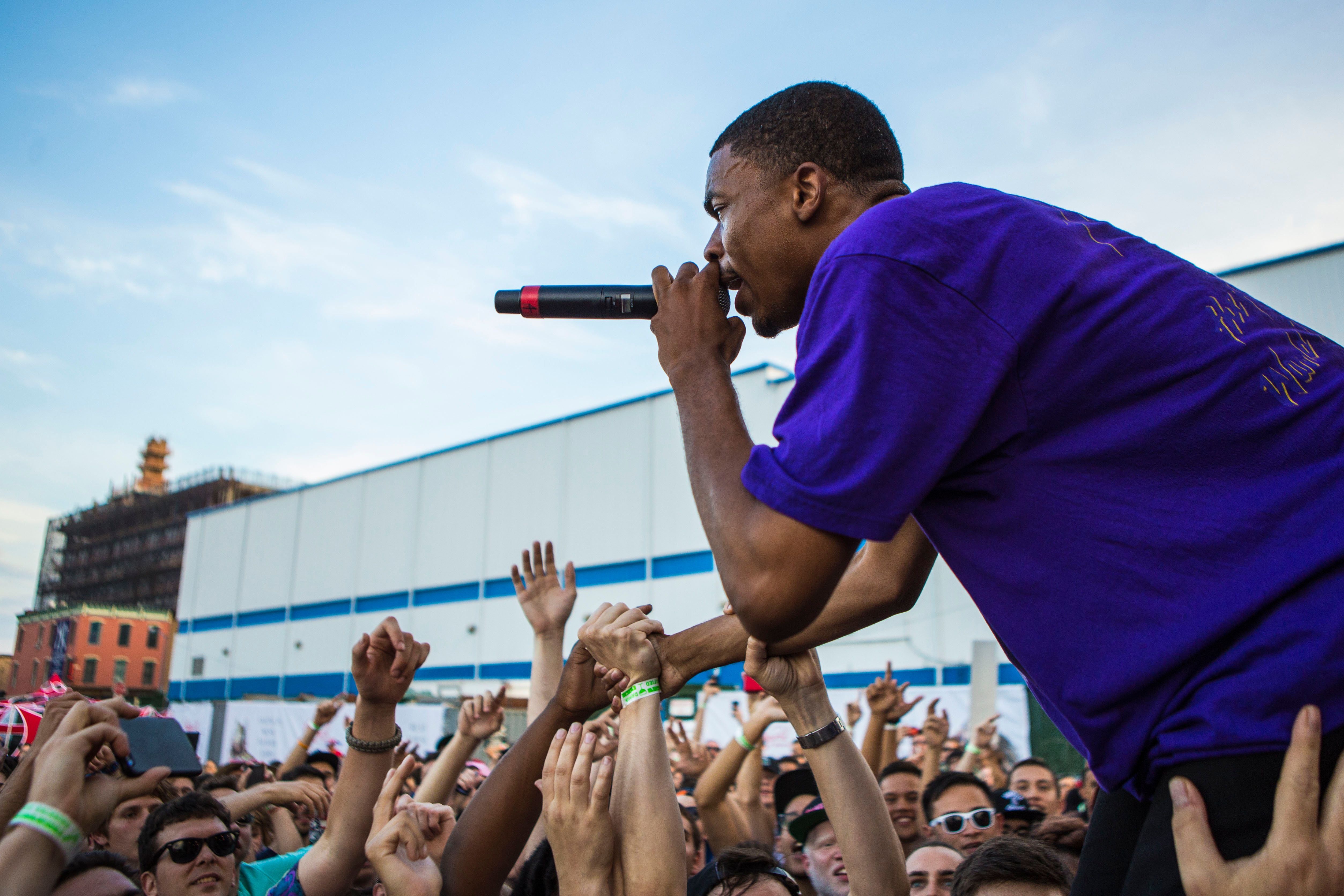 Vince Staples performs during Brooklyn's annual Northside Festival in 2015. Headliners over the years have included Solange,