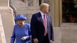 Face à Elizabeth II, Trump n'a pas manqué à l'étiquette. Mais il a offert une scène très