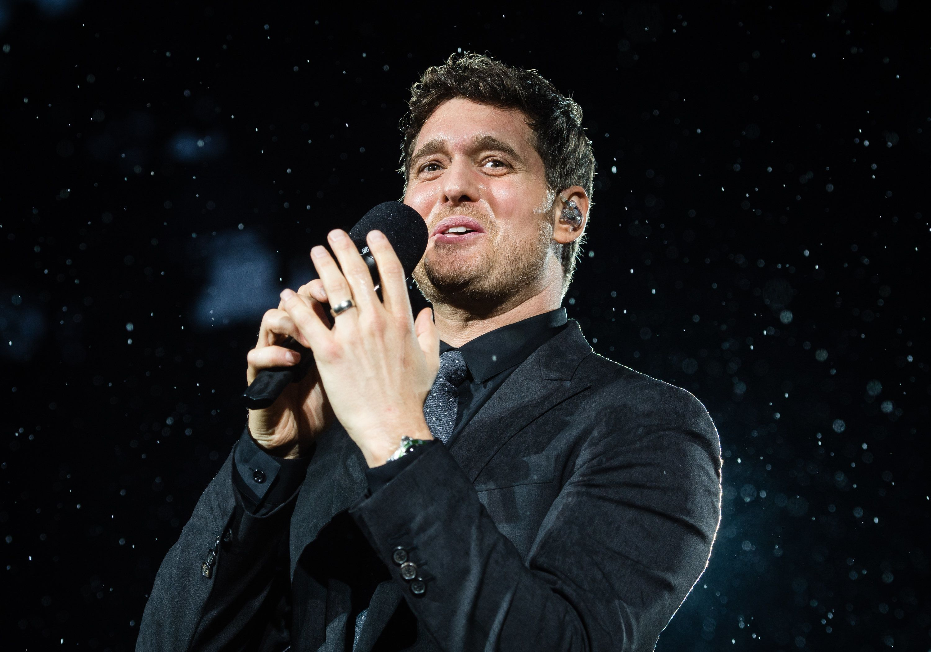 Michael Buble performs live at Barclaycard present British Summer Time Hyde Park at Hyde