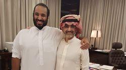 Pas rancunier, le prince Al-Walid ben Talal pose tout sourire aux côtés de