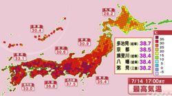 폭우로 200명 사망한 일본에 이번엔 38도가 넘는 폭염이