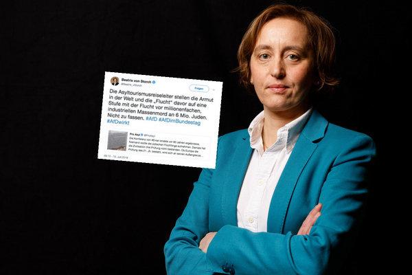 AfD-Frau von Storch kritisiert Nazi-Vergleich – mit widerwärtiger