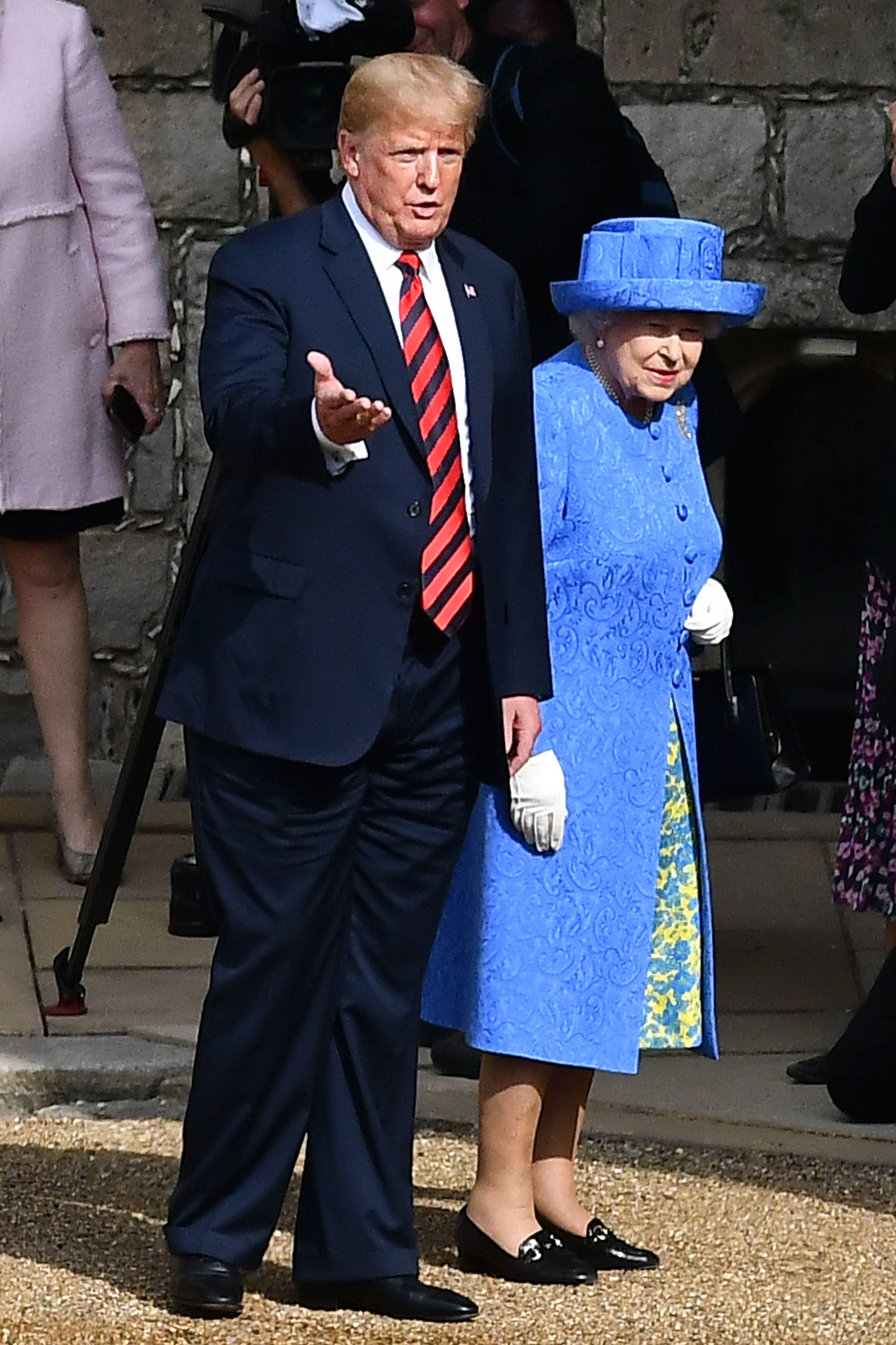Nächster Patzer: Trump plaudert Detail aus Gespräch mit der Queen aus