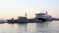 H στιγμή της πρόσκρουσης σκάφους στην Αλυκή της