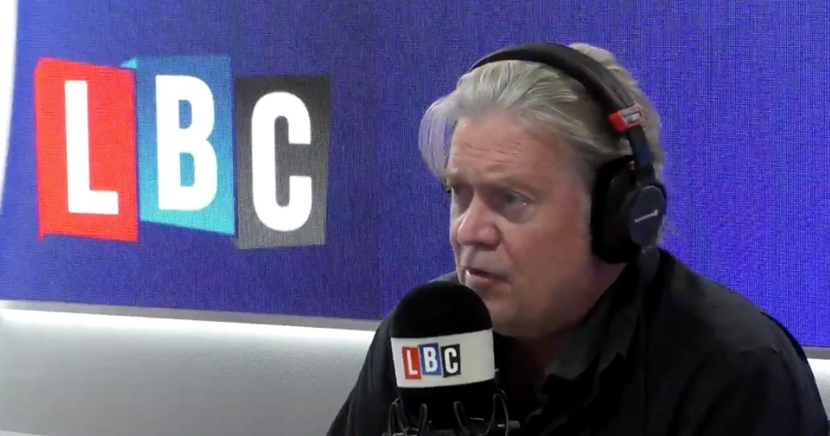 Nigel Farage Interviewed Steve Bannon And It's Caused Quite A Ruckus