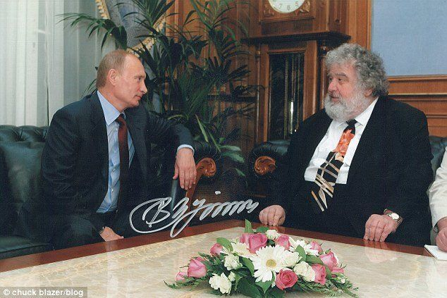 Russian President Vladimir Putin and Chuck Blazer, then a U.S. and regional soccer official, meeting in Moscow in 2010.