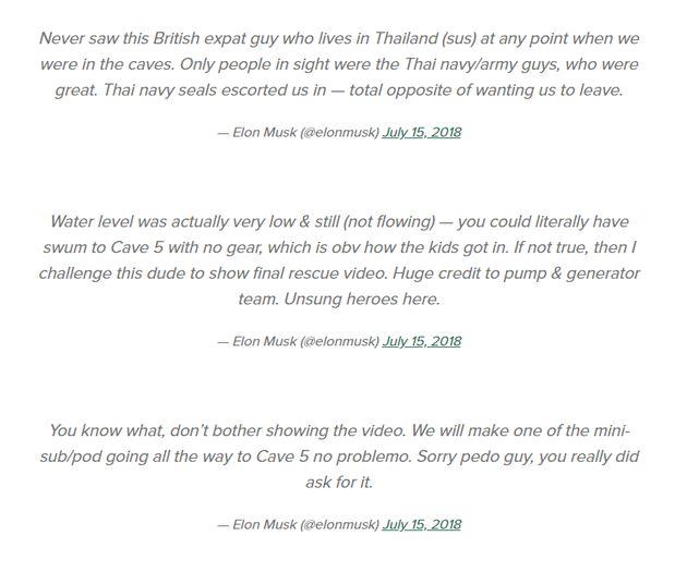 일론 머스크가 '태국 동굴 사건' 구조원을 아무 근거 없이 아동성애자라고