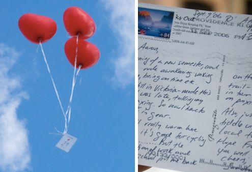 Kleiner Junge schreibt Brief an