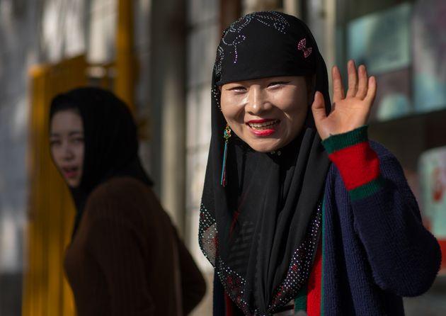 Une musulmane de la minorité Hui à Linxia, dans la province Gansu en Chine, le 1er novembre