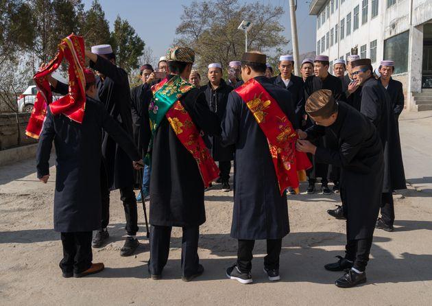 Une célébration soufie par la minorité musulmane Hui à Lenxia, le 2 novembre