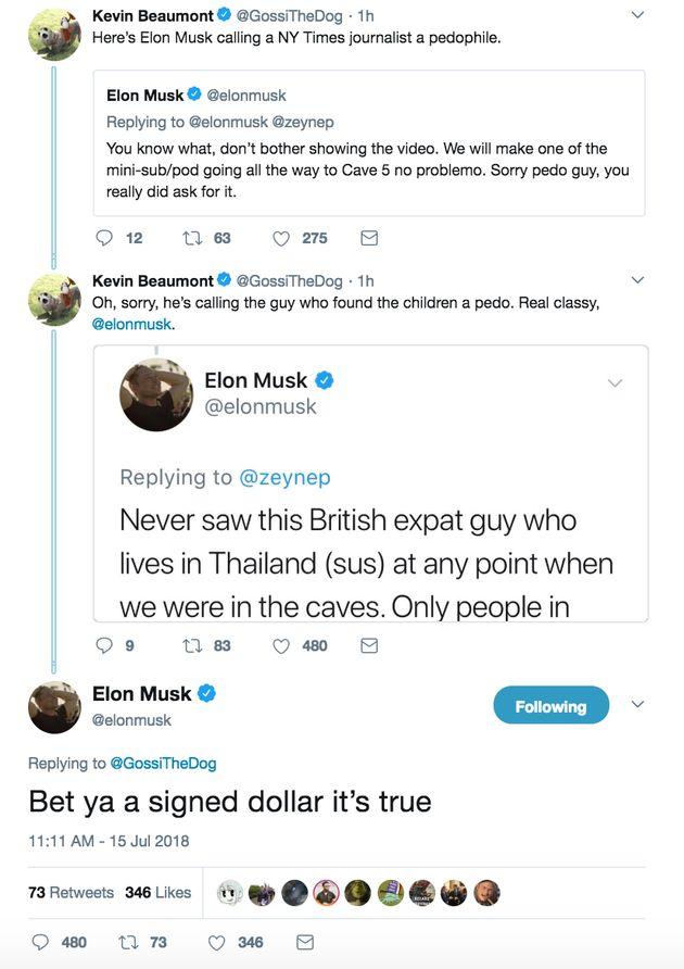 Enfants sauvés d'une grotte en Thaïlande: Elon Musk traite un sauveteur de
