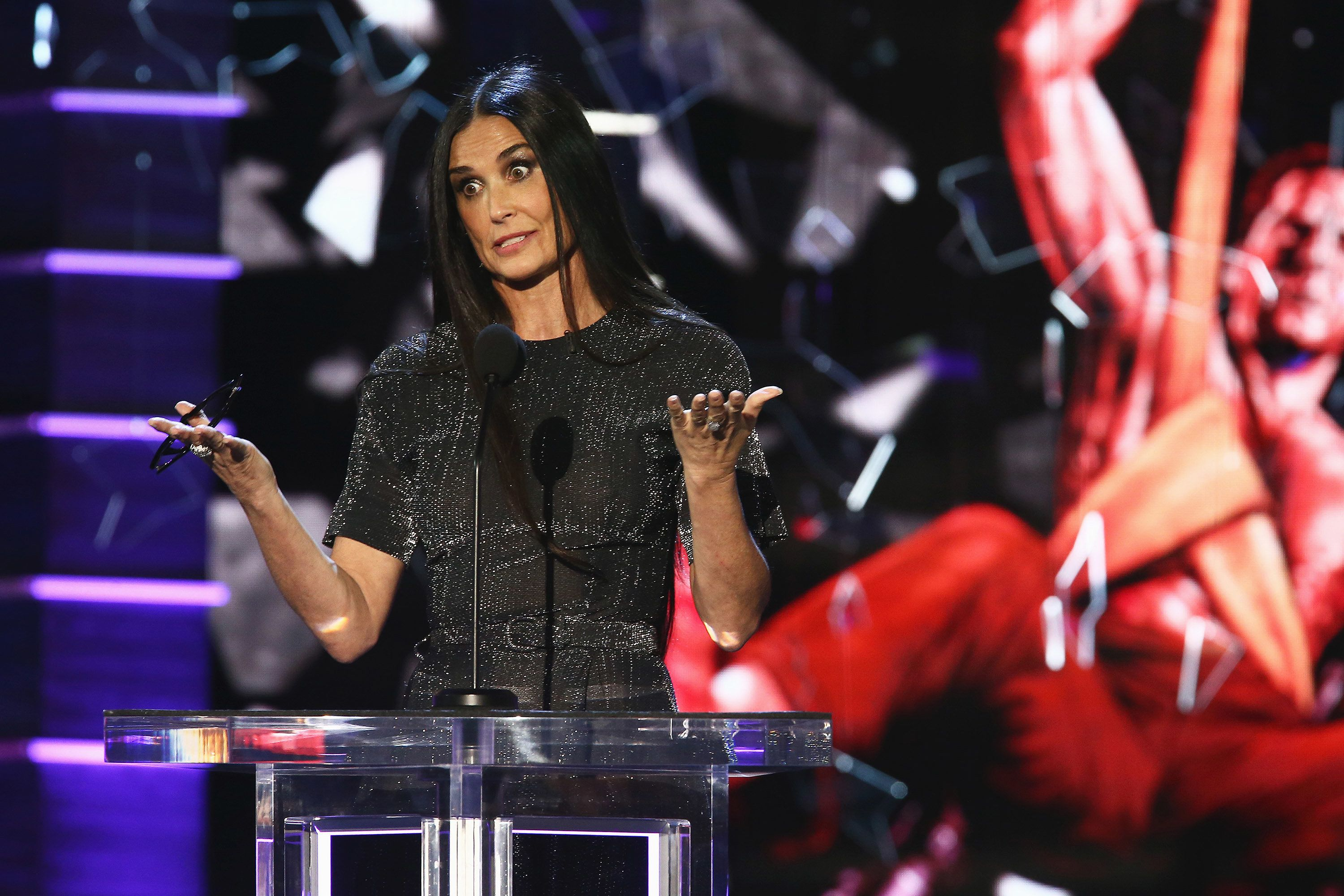 Demi Moore makes surprise appearance at roast of ex-hubby Bruce Willis