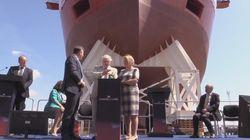 Sir David Attenborough Launches Polar Ship Into The