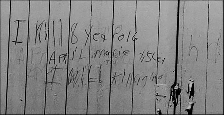 "Two years after her killing, someone scrawled on a barn not far from where her body was found, ""I kill 8 year"
