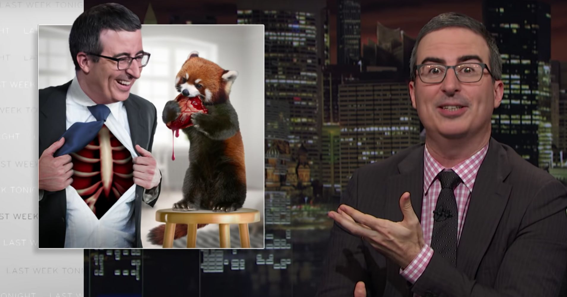 John Oliver Releases Amazing Unused Graphics Created By His Staff