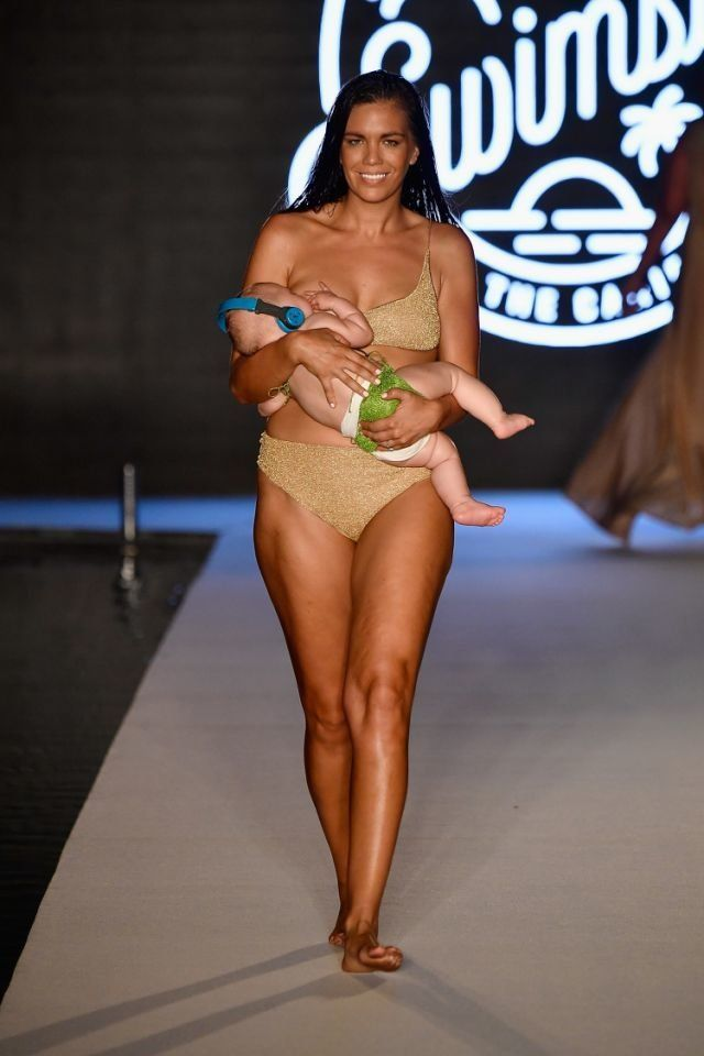 Martin was one of 16 finalists chosen to walk in the show as part of Miami Swim Week.`